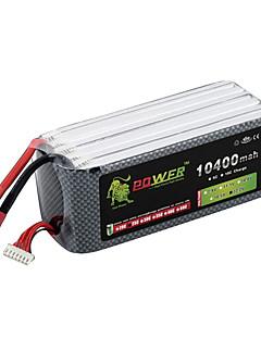 LION Power 22.2V 10400mAh 6S 25C Li-Po batteri (T-stik)