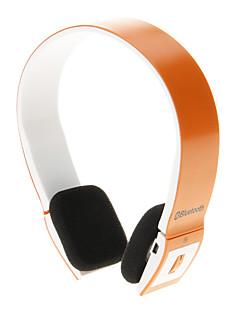 8086 Bluetooth Headset Music On-ear Earphone for Iphone Ipad Computer (Orange)
