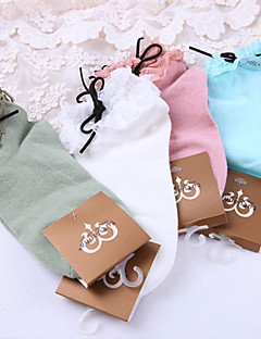 Socks/Stockings Sweet Lolita Lace-up Pink White Blue Green Lolita Accessories Socks Lace For Polyester Cotton