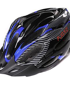FJQXZ Unisex PC+EPS 21 Vents Black+Blue Ajustable Cycling Helmet