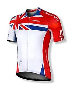 SPAKCT® Cycling Jersey Men's Short Sleeve Bike Breathable / Quick Dry / Front Zipper / Dust Proof / Wearable / YKK Zipper Jersey / Tops