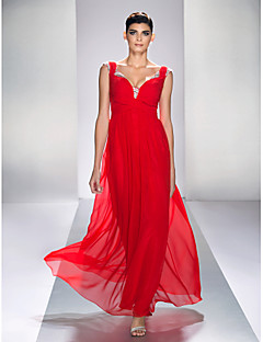 TS Couture® Prom / Formal Evening / Military Ball Dress - Open Back / Sexy Plus Size / Petite A-line Queen Anne Ankle-length Chiffon / Satin Chiffon
