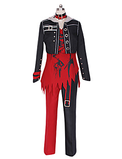 Amnesia Shin Black & Red PU Leather Cosplay Costume