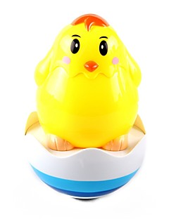 Musical Yellow Chicken Pattern Tumbler Toy for Baby