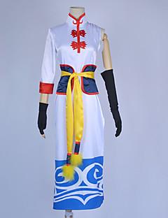 Inspirado por Gintama Kagura animado Disfraces Cosplay Trajes Cosplay Retazos BlancoCheongsam / Guantes / Accesorios de Cintura /