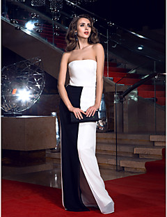 TS Couture® Formal Evening Ivory Sheath/Column Strapless Floor-length Chiffon