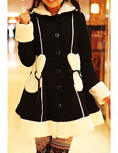 מעיל לוליטה מתוקה נסיכות Cosplay שמלות לוליטה לבן / Black / ורוד אחיד / סרט פרפר שרוול ארוך לוליטה מעיל ל נשים פוליאסטר