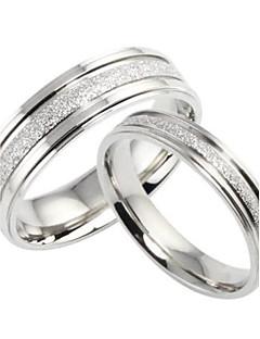 Gyűrűk Esküvő / Parti / Napi / Hétköznapi Ékszerek Titanium Acél Pár Páros gyűrűk / Midi gyűrűk / Ékszer eszközök és berendezések5 / 6 /