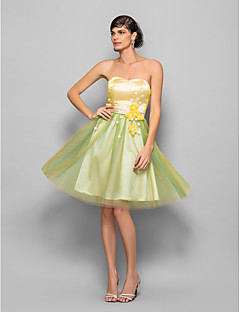 Cocktail Party / Homecoming / Holiday / Prom Dress - Multi-color Plus Sizes / Petite A-line / Princess Sweetheart Knee-lengthOrganza /