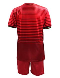 KOOPLUS® Herre Fodbold Shirt + Shorts Tøjsæt/Jakkesæt Forår Sommer Efterår Klassisk Fodbold Rød