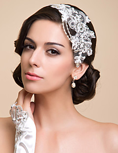 Women's Lace Rhinestone Imitation Pearl Headpiece-Special Occasion Headbands