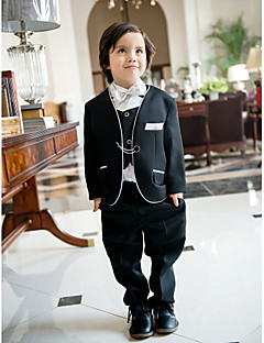 Polester/Cotton Blend Ring Bearer Suit - 5 Pieces Includes  Jacket / Shirt / Vest / Pants / Bow Tie