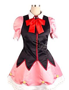 Inspired by Beyond the Boundary Mirai Kuriyama Anime Cosplay Costumes Cosplay Suits Patchwork Black / PinkDress / Headpiece / Cravat /