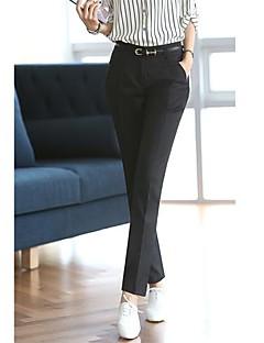 Hanyiou ® Kvinnors Midjan De raka cylinder FRITID västerländska byxor