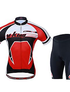 Mysenlan Camisa com Shorts para Ciclismo Homens Manga Curta Moto Camisa/Roupas Para Esporte Shorts Conjuntos de RoupasSecagem Rápida