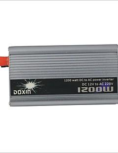 Carking ™ Universal zinklegering 1200W DC 12V naar AC 220V Power Inverter met auto aansteker - Zilver