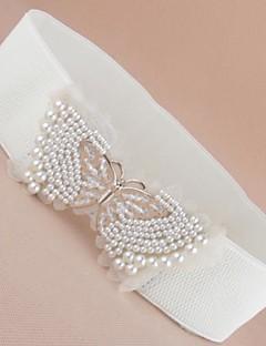 Frauen faux Perle bowknot Gürtel