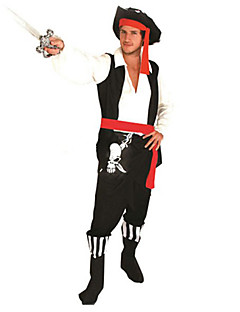 Cosplay Costumes / Party Costume Pirate Festival/Holiday Halloween Costumes Red/Black Patchwork Top / Pants / Belt / HatHalloween /