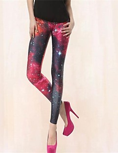 Das PinkQueen Mulheres Spandex Red And Black Cruz Perna Leggings