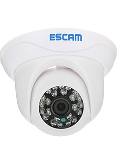 ESCAM Snail QD500 H.264 Dual Stream 3.6MM Day/Night Waterproof Dome IP Camera and Support Mobile Detection