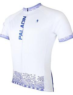 ILPALADINO Pánské Krátké rukávy Jezdit na kole Dres Vrchní část oděvu Rychleschnoucí Odolný vůči UV záření Prodyšné Terylen Jaro Léto