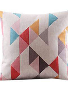 Adorável geométrica algodão / Linen Decorrative fronha
