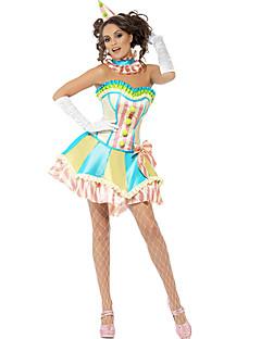 Cosplay Kostýmy Kostým na Večírek Burlesque/Klaun Festival/Svátek Halloweenské kostýmy Zelená PatchworkVrchní deska Sukně Vlasové ozdoby