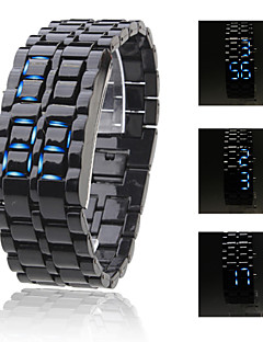 Men's Watch Faceless Watch Blue LED Lava Style Digital Plastic Band  Wrist Watch Cool Watch Unique Watch Fashion Watch