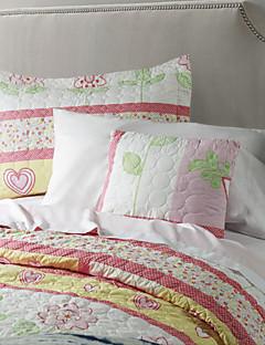 Vendbar Vaskbar Quilt Set, 1stk Quilt 1pc Sham 1pc pude 100% Polyester Birds In Love