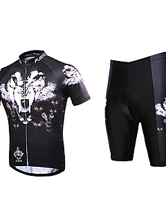 FJQXZ® Cycling Jersey with Shorts Men's Short Sleeve BikeQuick Dry / Anatomic Design / Ultraviolet Resistant / Wearable / Antistatic /