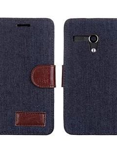 PU Leather Denim Case voor Motorola Moto G