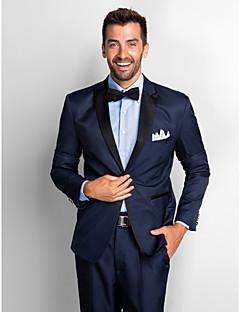 Dark Blue Polyester Standard Fit Two-Piece Tuxedo