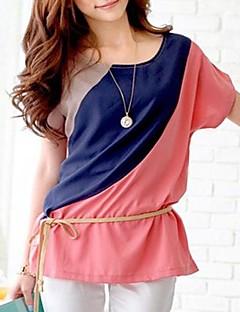 Kortermet Casual Chiffon T-skjorte for kvinner