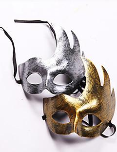 Maske Fest/Feiertage Halloween Kostüme Goldfarben / Silber Maske Halloween / Karneval Unisex PVC