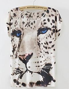 Tee-shirt ( Coton ) Décontracté/A Motifs/Mignon - Normal - Fin à Manches Courtes