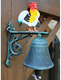 Continental Iron Retro stil Bronse Painted Rooster Type Door Bell