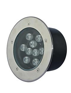 9 LED High Power Varm / Ren / Cool White Underground Ljus AC85-265V