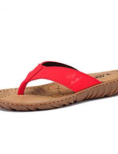 Pelle delle donne tacco piatto flip Flops Scarpe Pantofole (più colori)