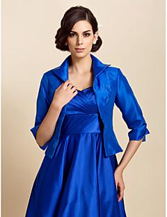 Wraps casamento Casacos / Jaquetas Manga Comprida Tafetá Azul Royal Casamento / Festa / Casual Camiseta Aberto à Frente