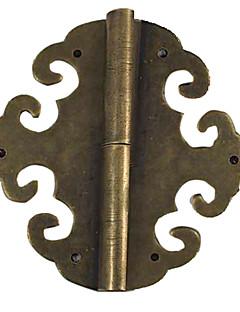 65mm × 55mm Retro kinesisk Bronse Messing Of Qing-dynastiet lovende Cloud dørhengselen