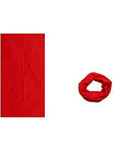 KORAMAN Summer Pure Red Cycling Sun-Proof Magic Scarf Headband