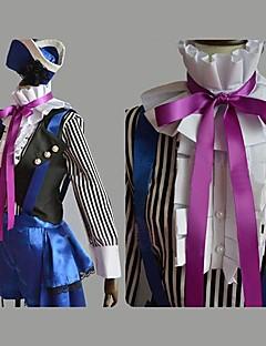 Inspirerad av Black Butler Ciel Phantomhive anime Cosplay dräkter cosplay Suits Lappverk Lila Lång ärmVäst / Topp / Byxor / Hatt / Knyta