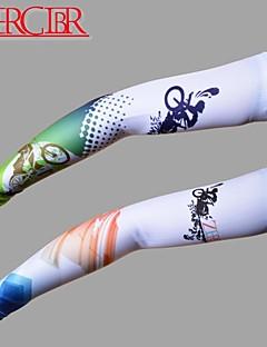 アームウォーマー バイク 高通気性 速乾性 抗紫外線 サンスクリーン 男女兼用 グリーン レッド