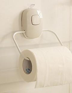 Orange ® Moderne Strong Suction silikone vægmonteret Toiletpapirholder Hvid 1stk