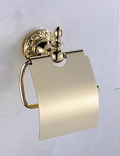 Toiletrolhouder Ti-PVD Muurbevestiging 13*6*17cm(5*2.3*6.7inch) Messing Antiek