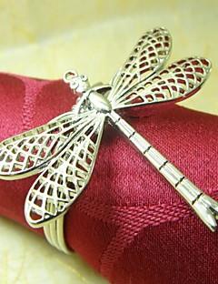 Dragonfly lautasliinarengas, Metal, 4cm, Set of 12,