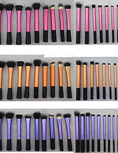 20 Deler Super Soft Dense Make Up Brush Amazing Complete Kit for Makeup med tre forskjellige farger