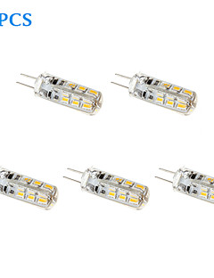 5 pcs G4 1 W 24 110 LM Warm White Corn Bulbs DC 12 V