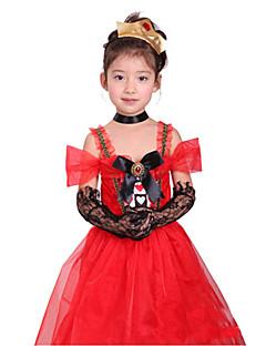Halloween Costume entusiasta señora española Red poliéster Kids '