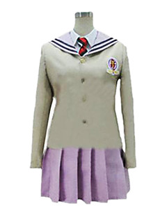 Inspired by Blue Exorcist Shiemi Moriyama Anime Cosplay Costumes Cosplay Suits Patchwork Beige Long Sleeve Coat / Shirt / Skirt